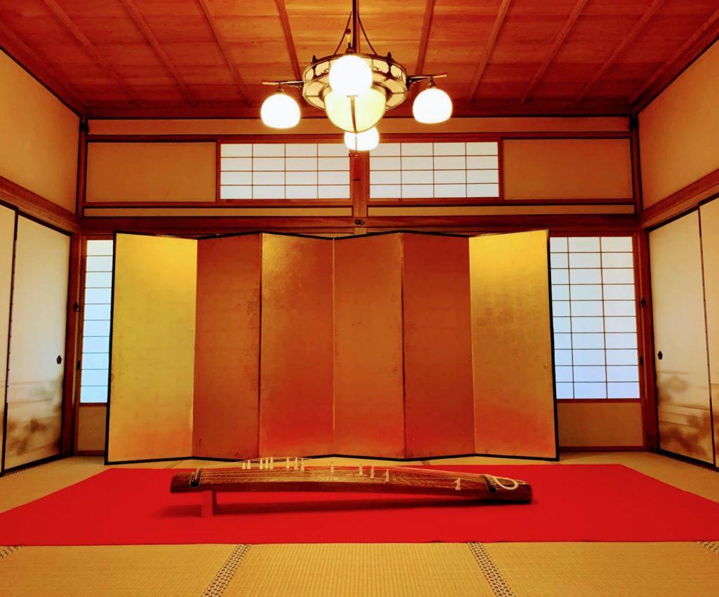 福島県迎賓館で箏曲演奏を務める佳寿美会